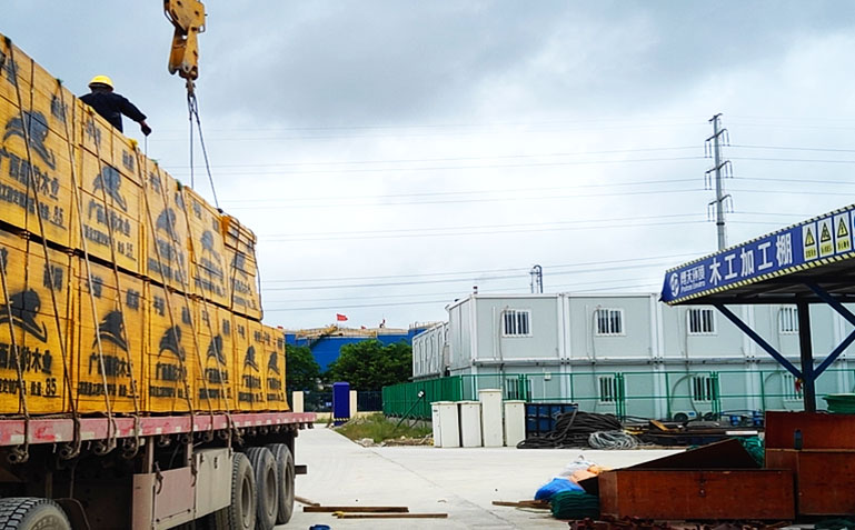 建筑模板在工地中